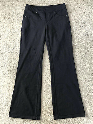 "Athleta Classic Bettona Pants 31"" Flare Black Yoga Stretch Size Small 819227"