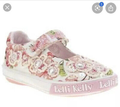 Lelli Kelly Canvas Fiori Di Pesco Size 12.5
