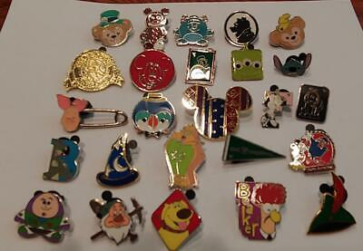 Disney Trading Pins-Lot of 25-No Duplicates-LE-HM-Cast-Rack-Fast Shipping