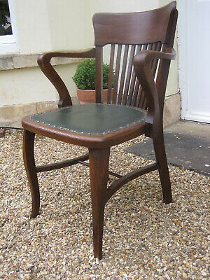 Art Nouveau/Arts and Crafts Oak Desk Chair M