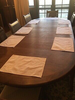 8 Cotton Placemat In Off White Hemstitched.small Pocket On The Side For Napkins