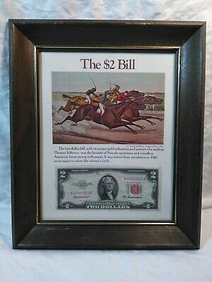 The $2 Bill Framed
