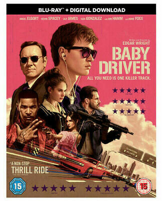 Baby Driver (Lily James) Blu Ray New And Sealed