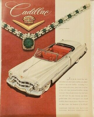 CADILLAC 1953 CAR ADS - Ten in All - Excellent Conditions