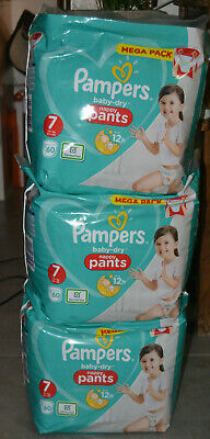 180 Couches Pampers Baby Dry Pants - Couches Culottes Taille 7 (17+ kg)