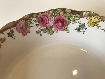 Lovely  Royal Doulton English Rose Cereal Soup Pasta Bowl  D6071