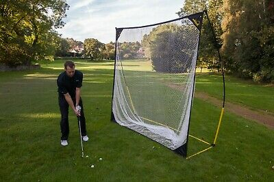 QUICKPLAY Quick-Hit 8x8ft Golf Swing Practice Net | At Home Portable Golf Net