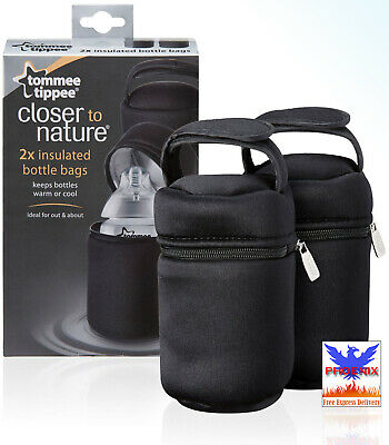 Tommee Tippee INSULATED BOTTLE CARRIERS 2 Pack BRAND NEW FREE NEXT DAY DELIVERY