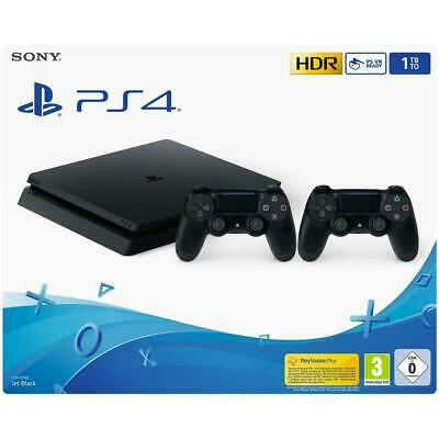 Sony Playstation 4 Ps4 Console 1Tb F Chassis Slim Hdr + 2 Dualshock V2