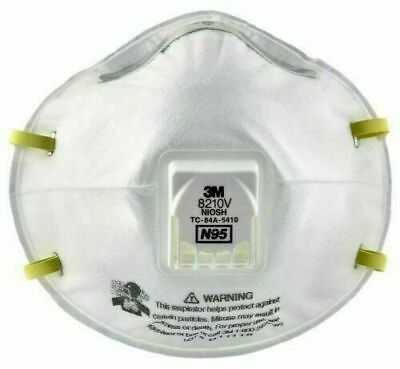 3M 8210V N95 Respirator Mask W/Exhalation Valve 8511 1 Mask Made In USA SEALED