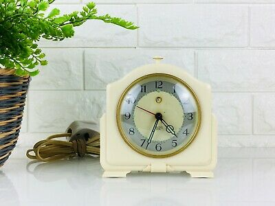 Vintage Smiths Sectric Electric Alarm Clock Bakelite, Model CA Art Deco