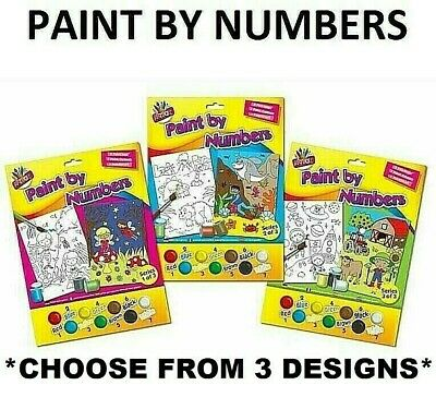 Paint By Numbers Art Childrens Kids Adults Child Pets Duck Badger Countryside