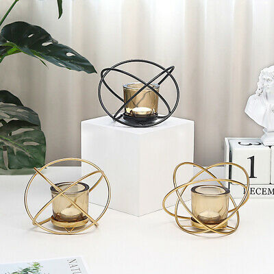 Geometric Decoration Candlestick Iron Art Stand Crafts Home Nordic Style Gift