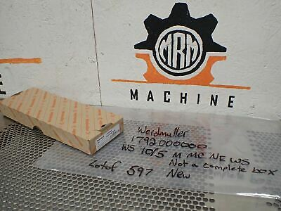 Weidmuller 1792000000 WS 10/5 M MC NE WS Terminal Markers  (Lot of 597 Markers)