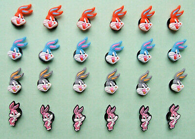 SHOE CHARMS (T4) - inspired by BUNNY RABBIT - (24BB) pack of 24