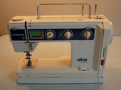 Vintage Elna Su Air Electric Sewing Machine Precision Switzerland Untested Parts