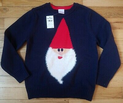Nwt Hanna Andersson Gnome Sweet Gnome Cotton Sweater 110 5, 120 6/7 150 12 $68