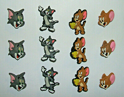SHOE CHARMS (T3) - inspired by TOM CAT & MOUSE - (12TJ) pack of 12