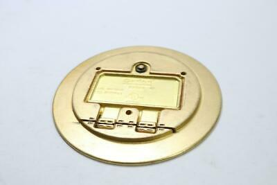 Carlon E97BR Brass Round Floor Box Single-Door Cover