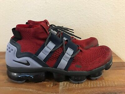 Nike Air Vapormax Utility Flyknit Team Red Black Obsidian AH6834-600 Men New!!!!