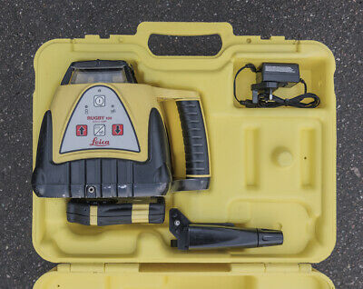 Leica Rugby 100 self leveling rotating laser level with receiver