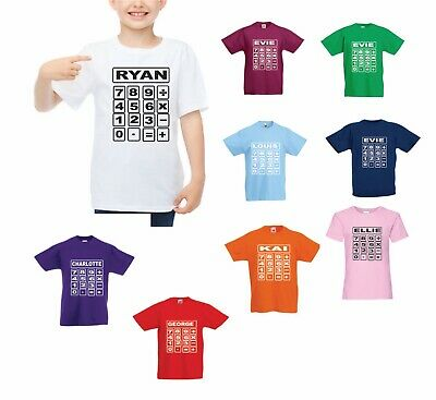 Personalised Names Nspcc Number Day Maths Day School Tshirt Top Girls Boys