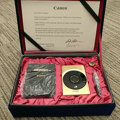 Canon IXUS IX240 Elph - 60th Anniversary Limited Edition - Gold Finish