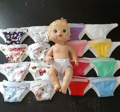 Homemade Little Baby Alive (33cm doll) Nappy - 16 Pattern Choices