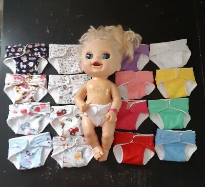 Homemade Baby Alive (37cm doll) Nappy - 16 Pattern Choices