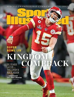 """Chiefs Win Super Bowl LIV on Huge Feb. 2020 13""""x17"""" SI Cover Poster"""
