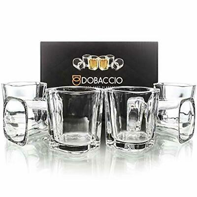 Square Shot Glasses for Whiskey, Brandy, Tequila. Shooting Drinking Glass, 2 oz.