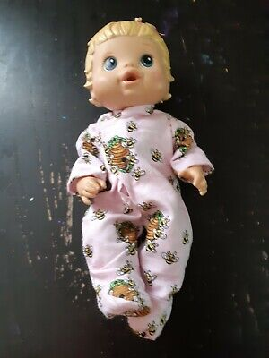 Homemade Little Baby Alive Pink with Bees Coverall Pyjamas for 33cm doll