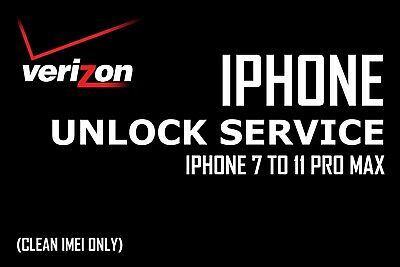 VERIZON Unlock Service for Apple iPhone 7 to 11 Pro Max (CLEAN ONLY)
