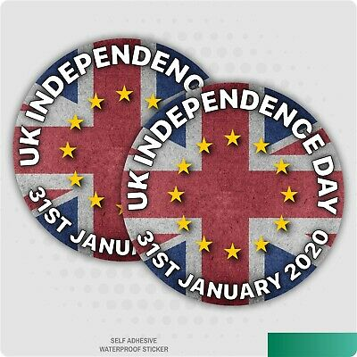 2 x UK Independence Day 31st January Sticker EU Brexit Car Self-Adhesive Decal