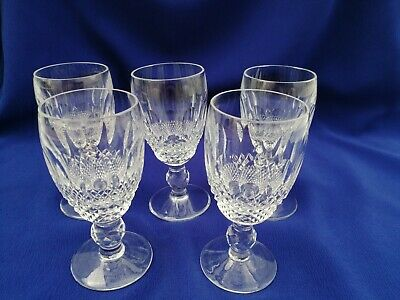 Waterford Crystal Colleen Short Stem Sherry Glasses X 5