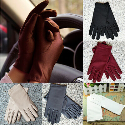 Ladies summer spandex super elastic UV protection sun protection driving gloves