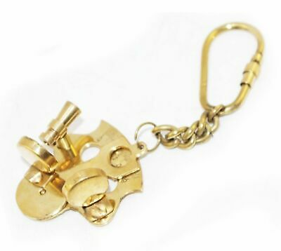 New Sextant Look Brass Nautical Key Ring Keychain Key Fob Key