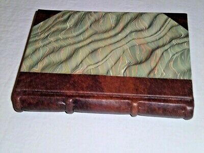 Signum Address Book Hand Made in Italy  Marbleized Cover leather gilt Brand New