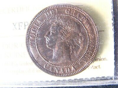 1 cent 1884 Obv. 2 Canada ICCS MS-62 one penny copper coin Queen Victoria c ¢