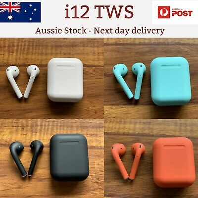 New i12 TWS wireless bluetooth 5.0 earbuds Touch Control 4 Colours