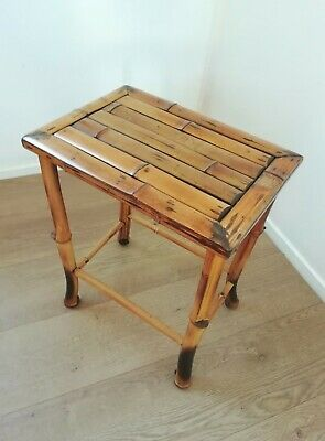 Antique Oriental Bamboo Occasional / Side Table