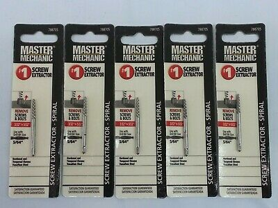 Master Mechanic Screw Extractor #1(Qty 5)