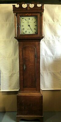 Vintage Long Case Grandfather Clock W Wenham - Wymondham