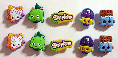SHOE CHARMS (S2) - inspired by SHOPPING CHARACTERS - (10SKA) pack of 10