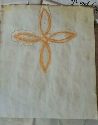 Stained Paper Magic Knot Symbol Watercolour Sigil Journal Grimoire Spellbook