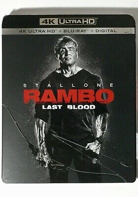 Rambo Last Blood 4K Blu-ray Digital Slipcover Brand NEW FREE~Shipping!