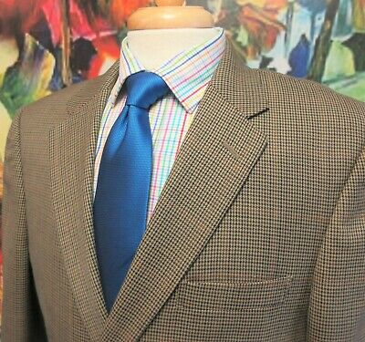 44 R- Jos. A. Bank Tailored Fit 100% Wool Sport Coat Houndstooth