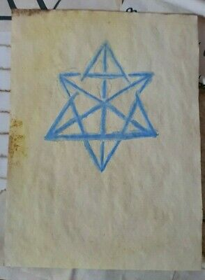 Stained Paper Merkabah Symbol Watercolour Sigil Journal Grimoire Spellbook