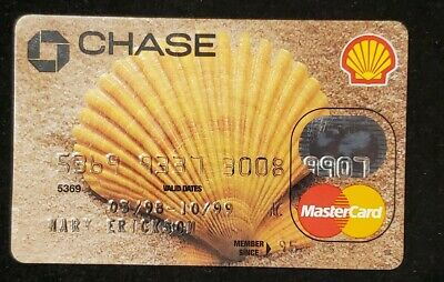 Chase Shell Oil MasterCard credit card exp 1999♡Free Shipping♡ cc715