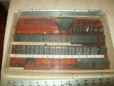 Box of Assorted Pratt & Whitney #500 Spacers and Precision Gages Not complete